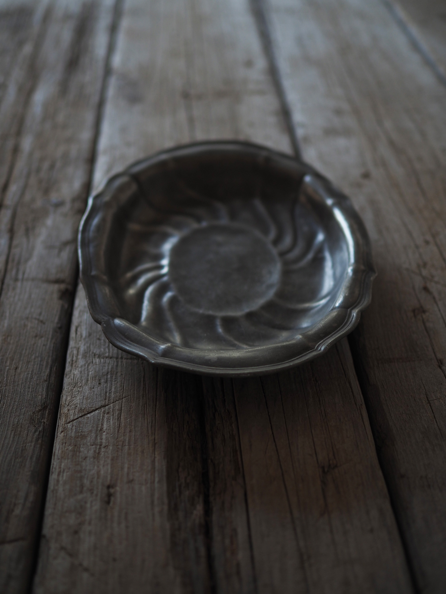 PEWTER OVAL PLATE