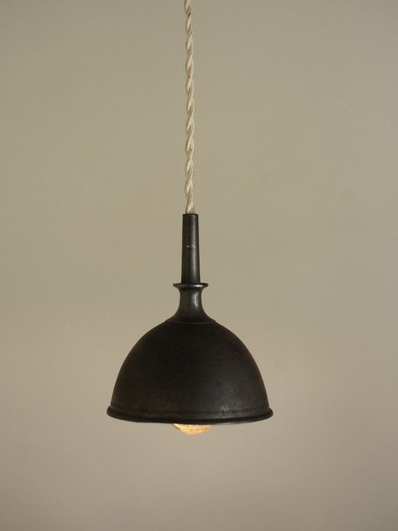 PEWTER FUNNEL LAMP B